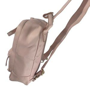 🛍Pale Pink Faux Leather Mini Backpack